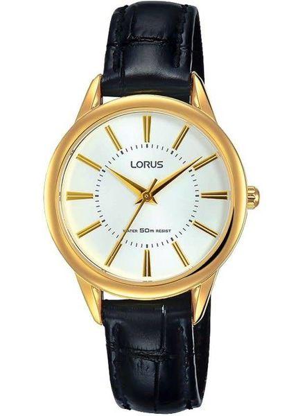 Lorus Horloge DAMES DOUBLE LEER ZWART 50M WR