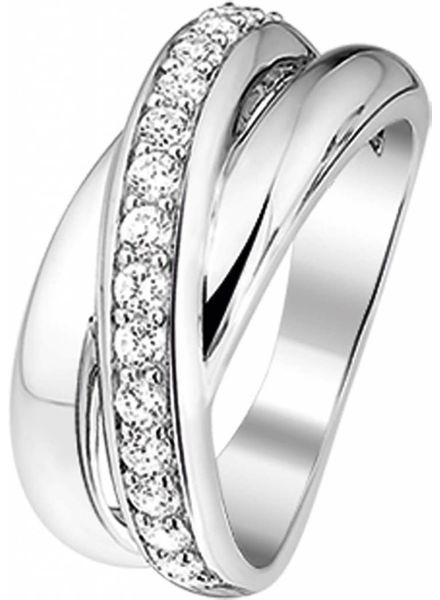 Tomylo Tomylo zilveren ring met zirconia