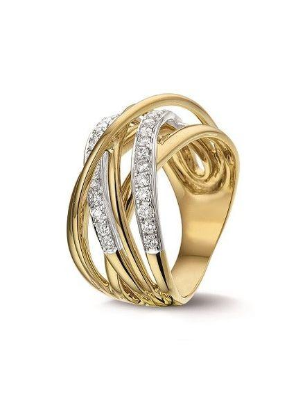 Tomylo Tomylo gouden ring met 0,48 ct. diamant H/Si