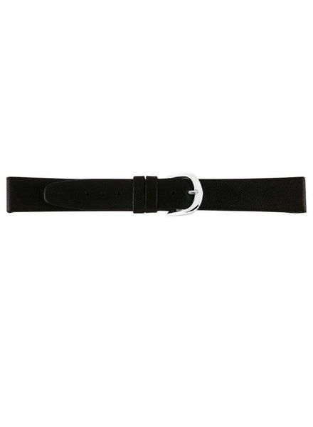 Lederen horlogeband waterafstotend, 14 mm zwart
