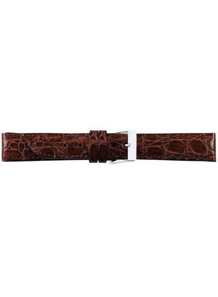 Krokodillen lederen horlogeband, 20 mm licht bruin