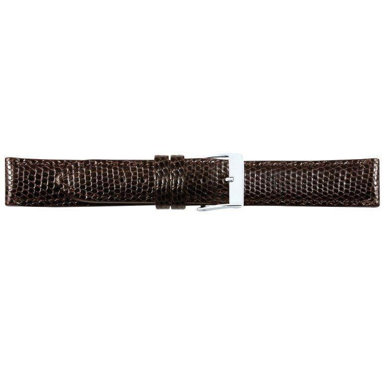 Lederen horlogeband, echt hagedis, 18 mm.