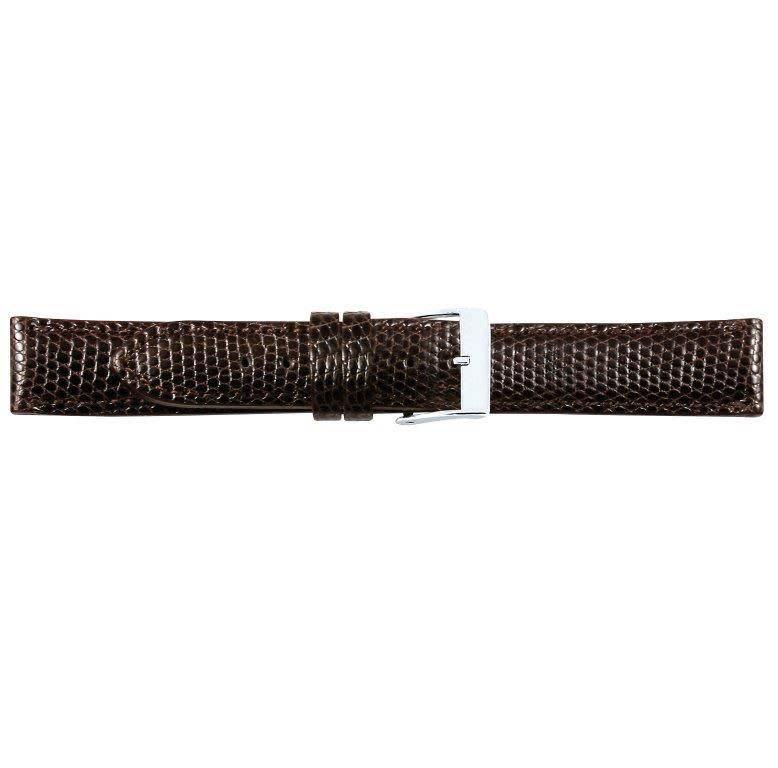 Hagedis lederen horlogeband, 20 mm bruin