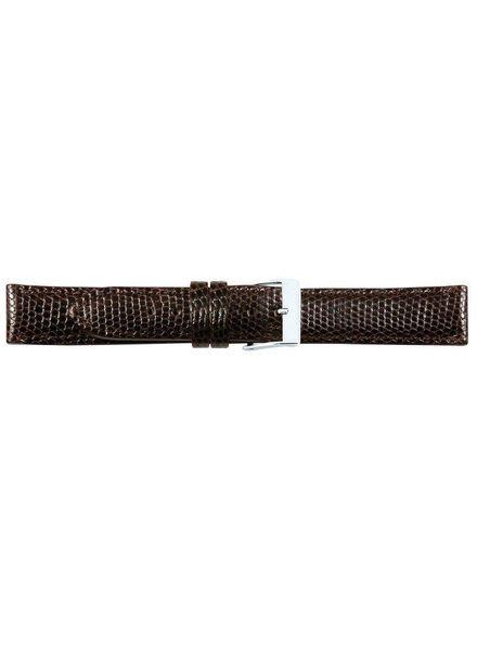 Hagedis lederen horlogeband, 14 mm bruin