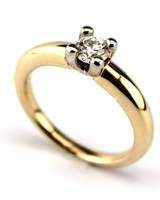 Tomylo 14K Bicolor ring 0.45ct F/G VS