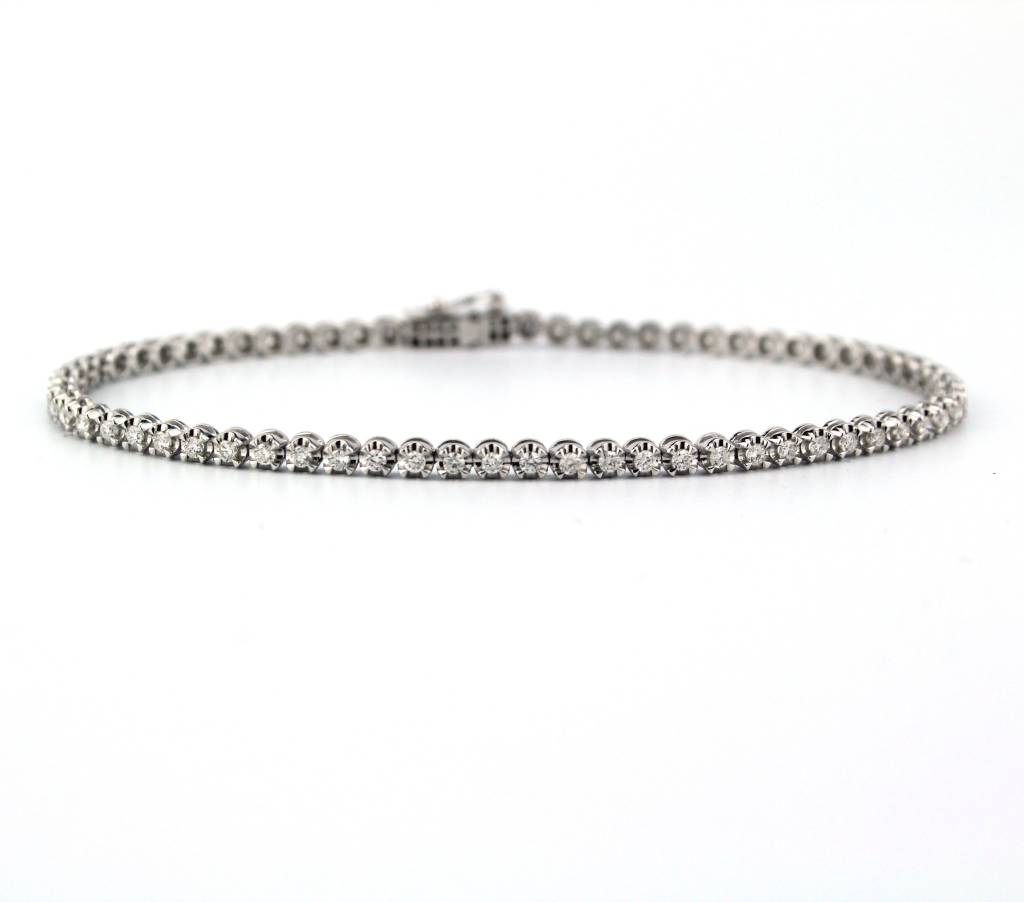 Tomylo Tomylo witgouden armband met 1,00 ct. briljant
