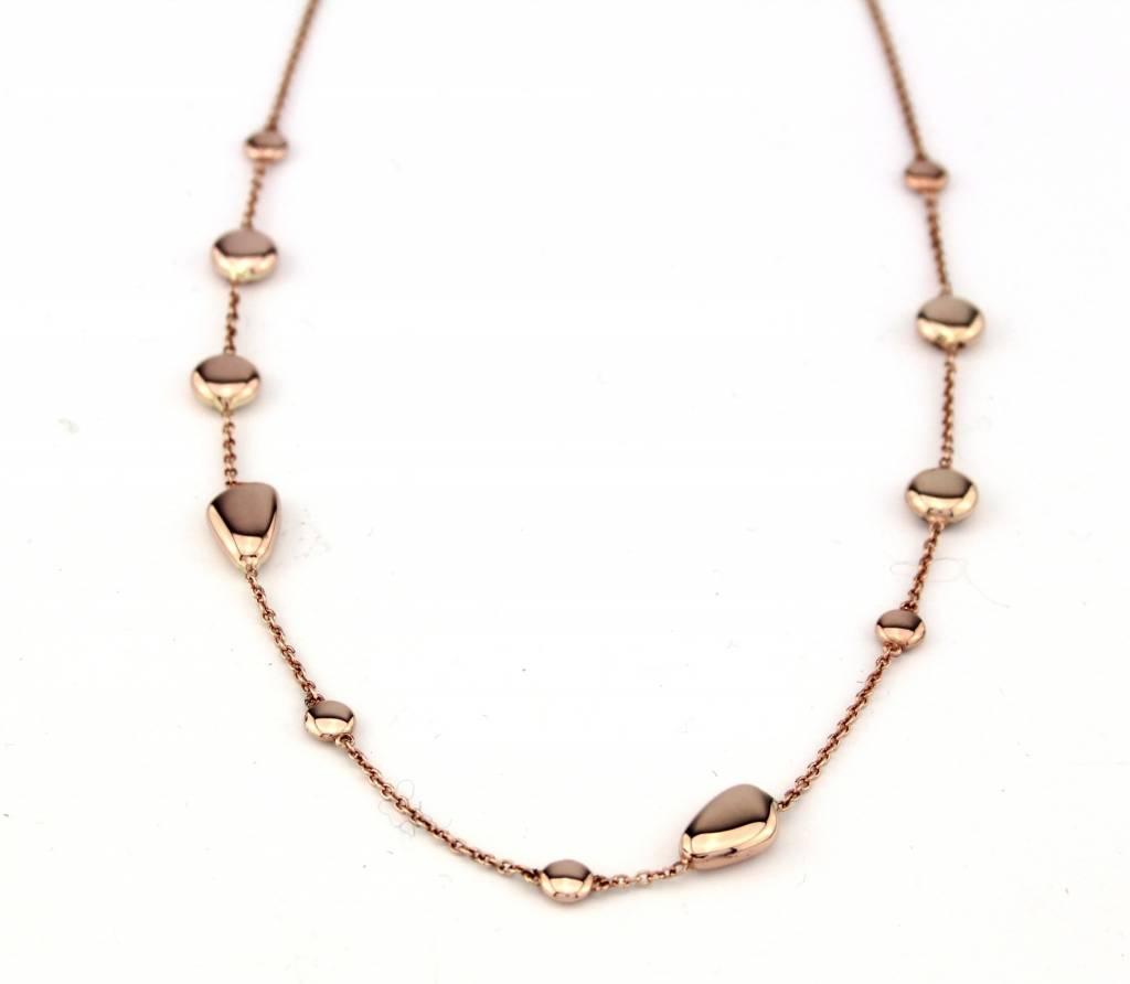 Monzario Oro MONZArio rosegouden collier 1090C