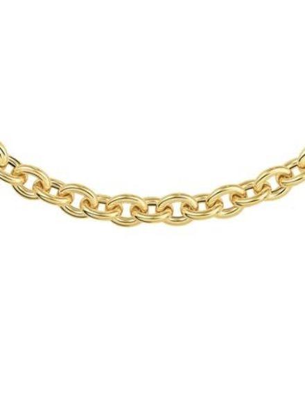 Tomylo Tomylo gouden jasseron ketting ovaal