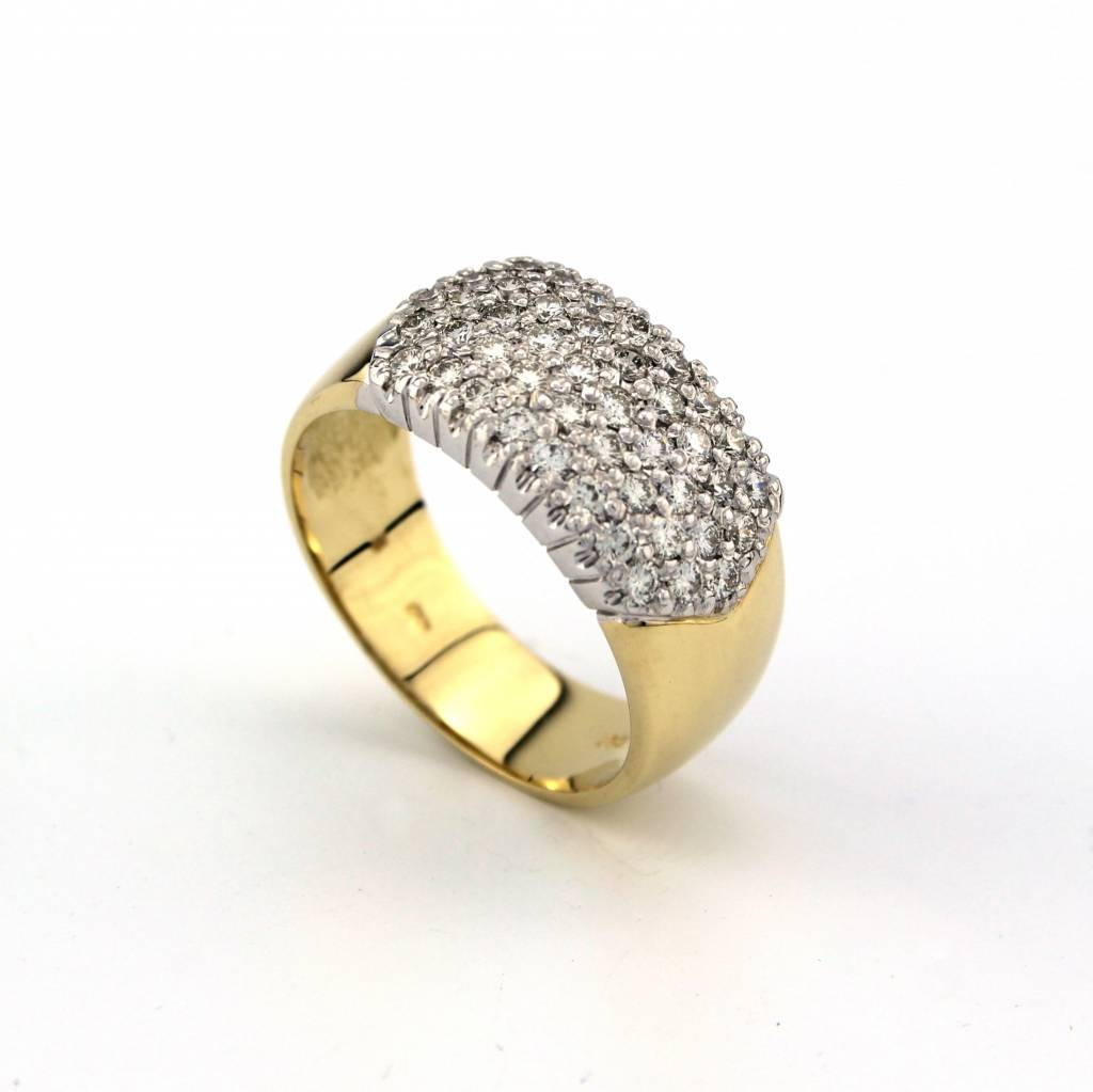 Tomylo !4K bicolor ring met diamant