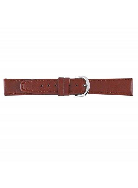 Horlogeband bruin leder 12mm 73212