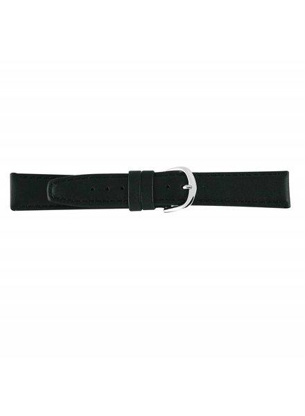 Horlogeband zwart leder 22mm 73122