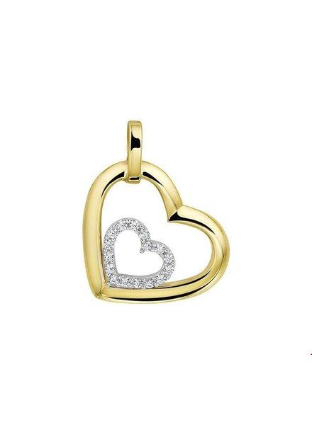 Tomylo Geelgouden hanger hart zirconia 4207726