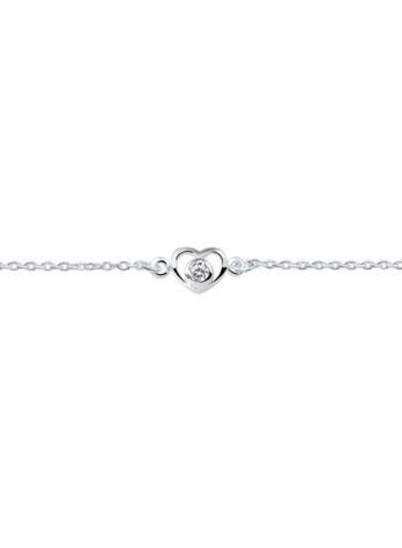 Tomylo Zilveren armband met hartje 1018717