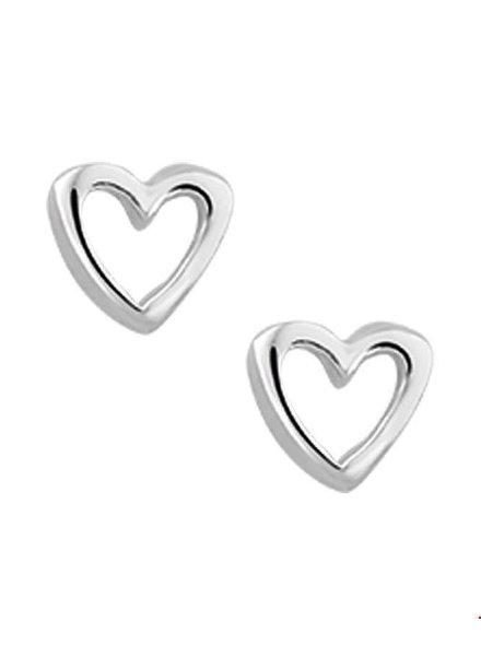 Tomylo zilveren oorknoppen hartje 1015376