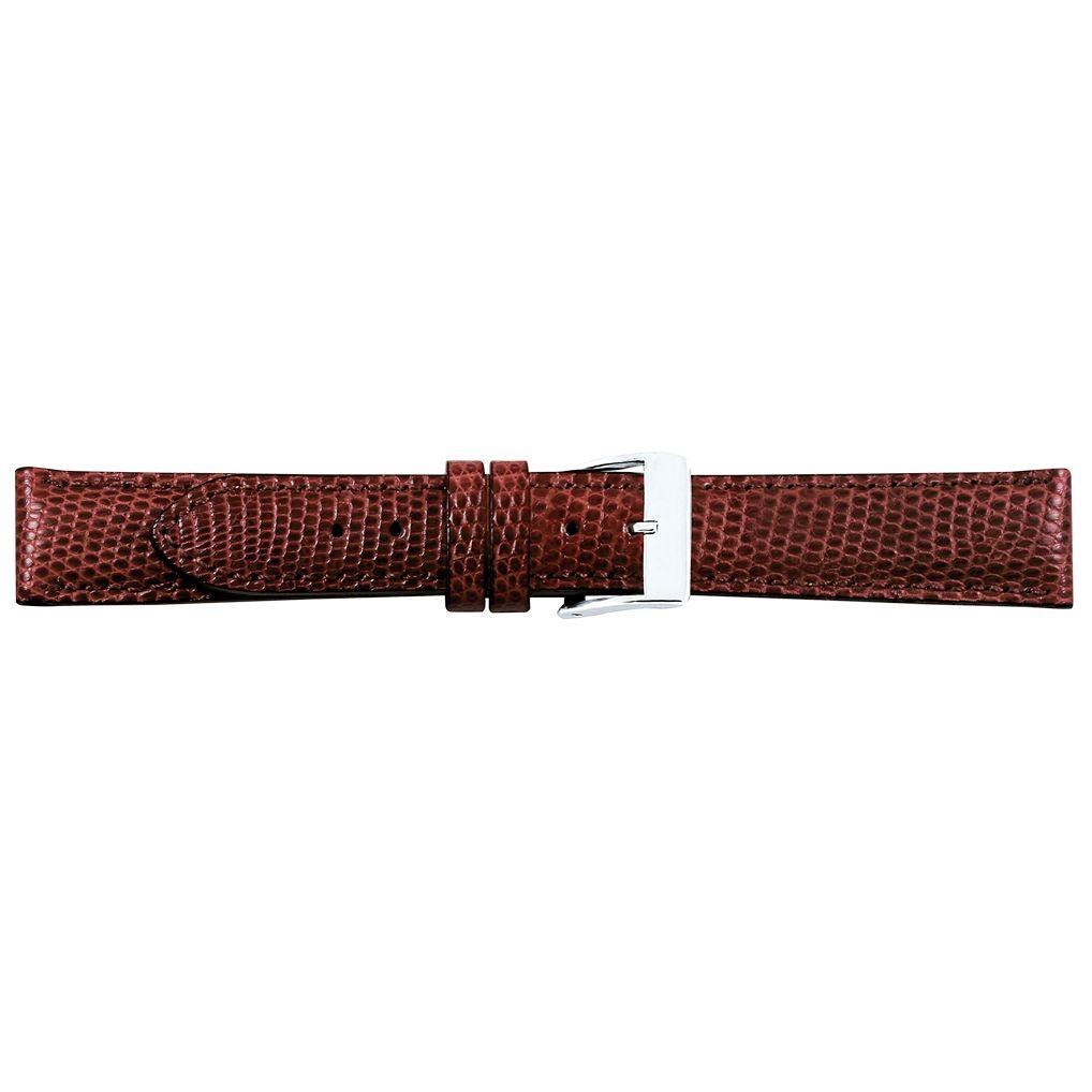 Horlogeband cognac hagedis leder 14mm 07614