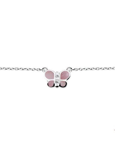 Tomylo zilveren ketting vlinder 1018720