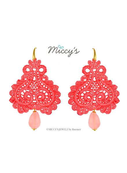Miccy's Miccy's oorhanger Pizzo, coral