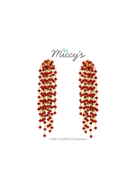 Miccy's Miccy's oorhanger Crystal, Edessa Red