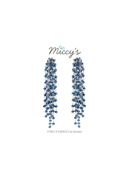Miccy's Miccy's oorhanger Crystal, Edessa Silver Blue