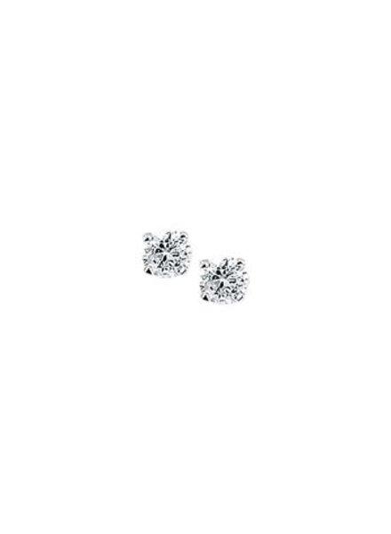Tomylo Zilveren oorknoppen met zirkonia 4mm 220295