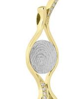 Silent Memories Silent Memories bicolor gouden vingerafdruk hanger 4061B