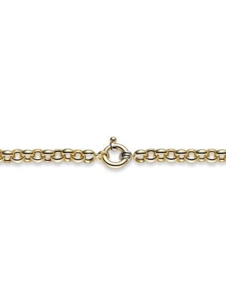 Tomylo Tomylo Gouden armband jasseron 8mm
