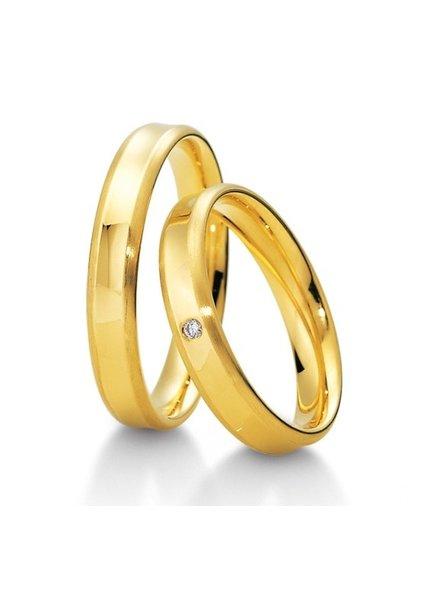 Breuning Geelgouden trouwringen 48/04011 48/04012