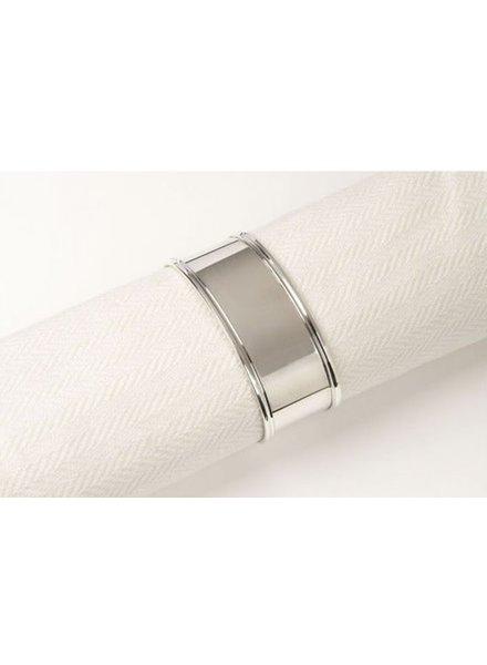 Zilveren servetband ovaal