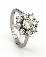 Tomylo Tomylo ring met gele en witte diamant