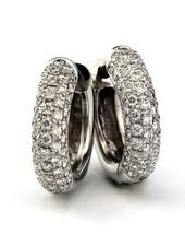 ROEMER ROEMER witgouden creolen met diamant