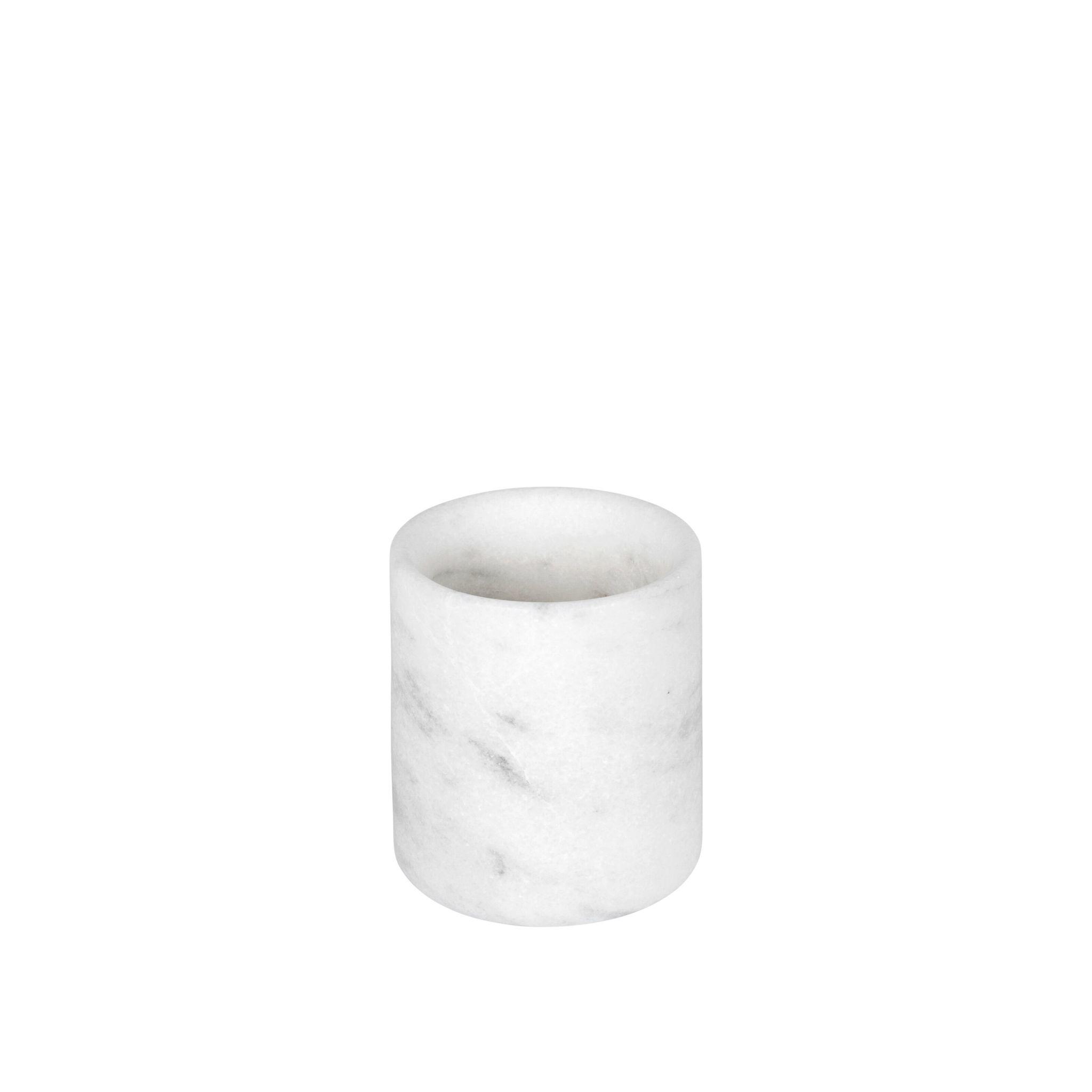 Stoned Stoned tandenborstelhouder wit marmer W019