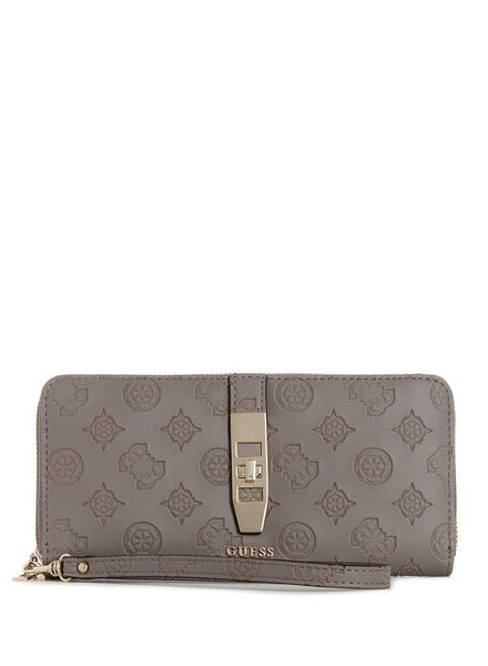 Guess Guess portemonnee Peony Classic Taupe HWSG7398460TAU