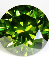Groene diamant 0,74 ct.