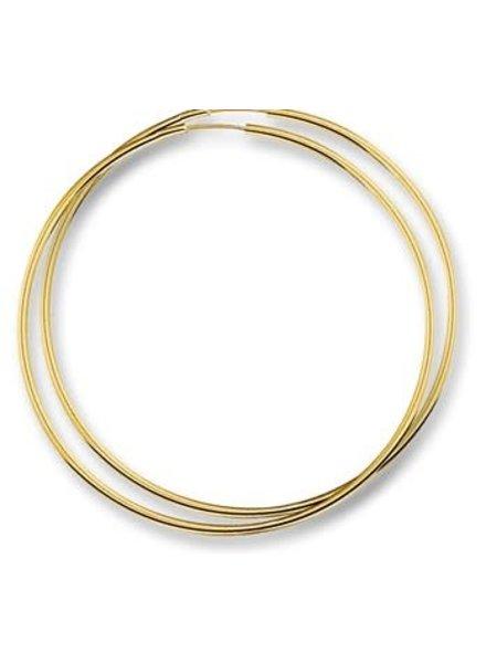 Tomylo Tomylo gouden oorringen 50mm x 2 mm