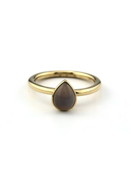 Passione Passione gouden ring GGE1378-54 met chalcedoon 0,98ct.