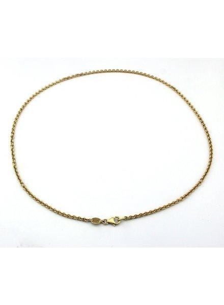 Bregje de Goudsmid Gouden collier anker 50cm