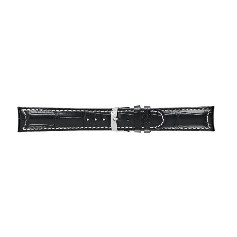Morellato Morellato horlogeband kalfsleder zwart 22mm.