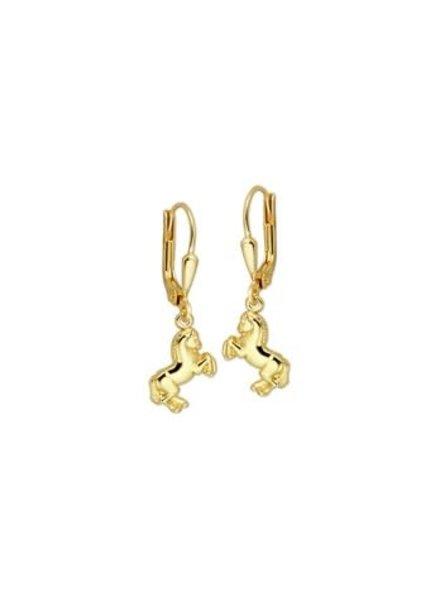 Tomylo Tomylo gouden oorhangers met paard