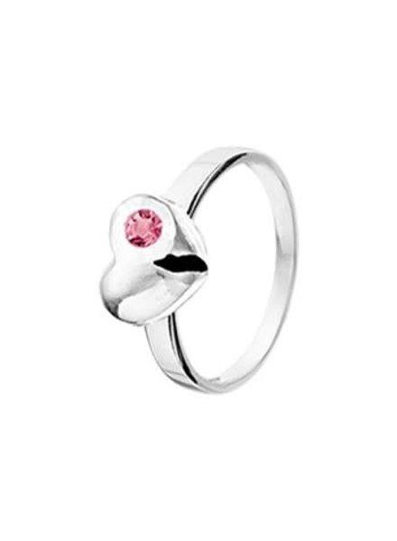 Tomylo Tomylo zilveren ring met hartje