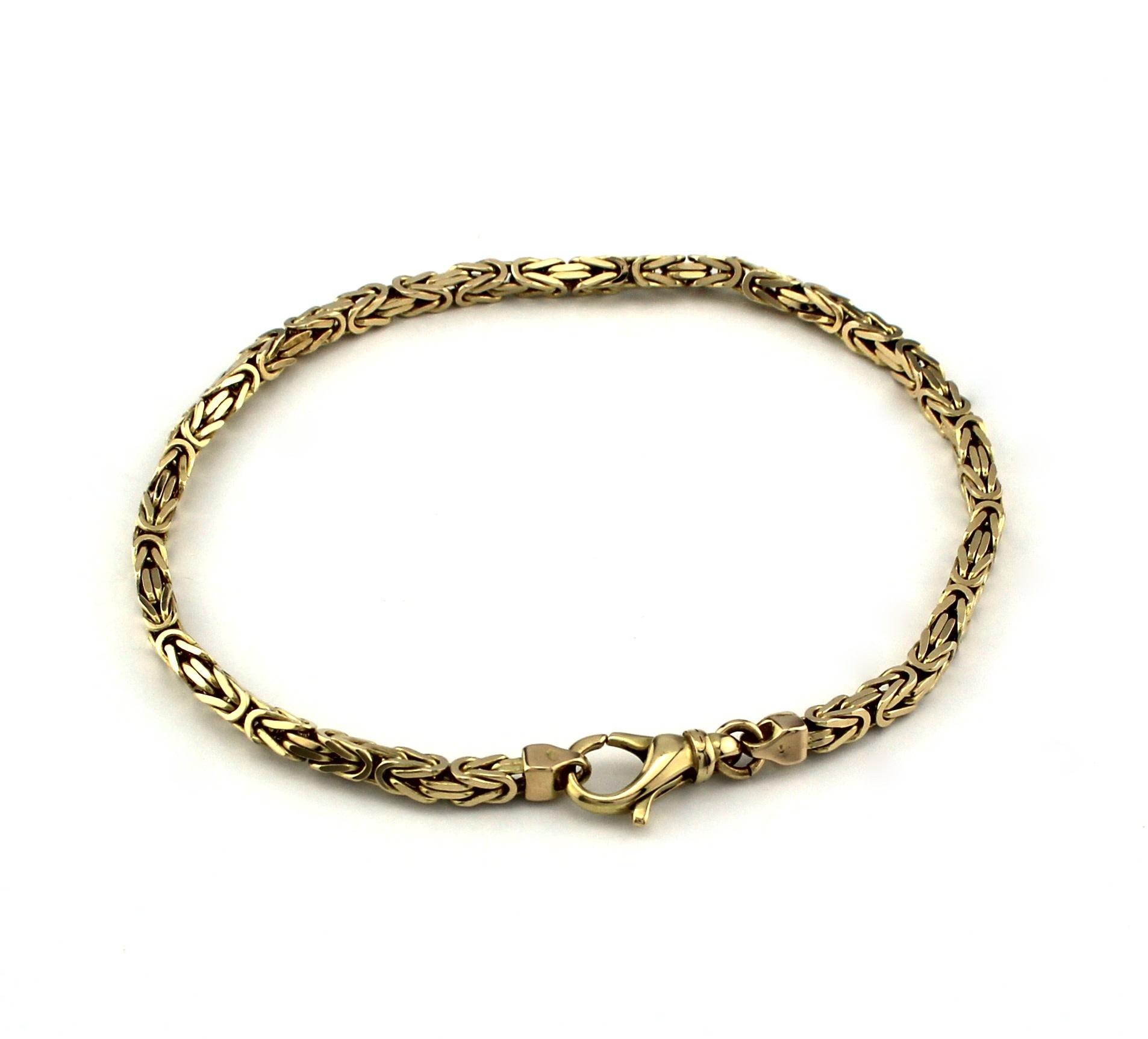 Tomylo 14 kt geelgouden armband met koningsschakel