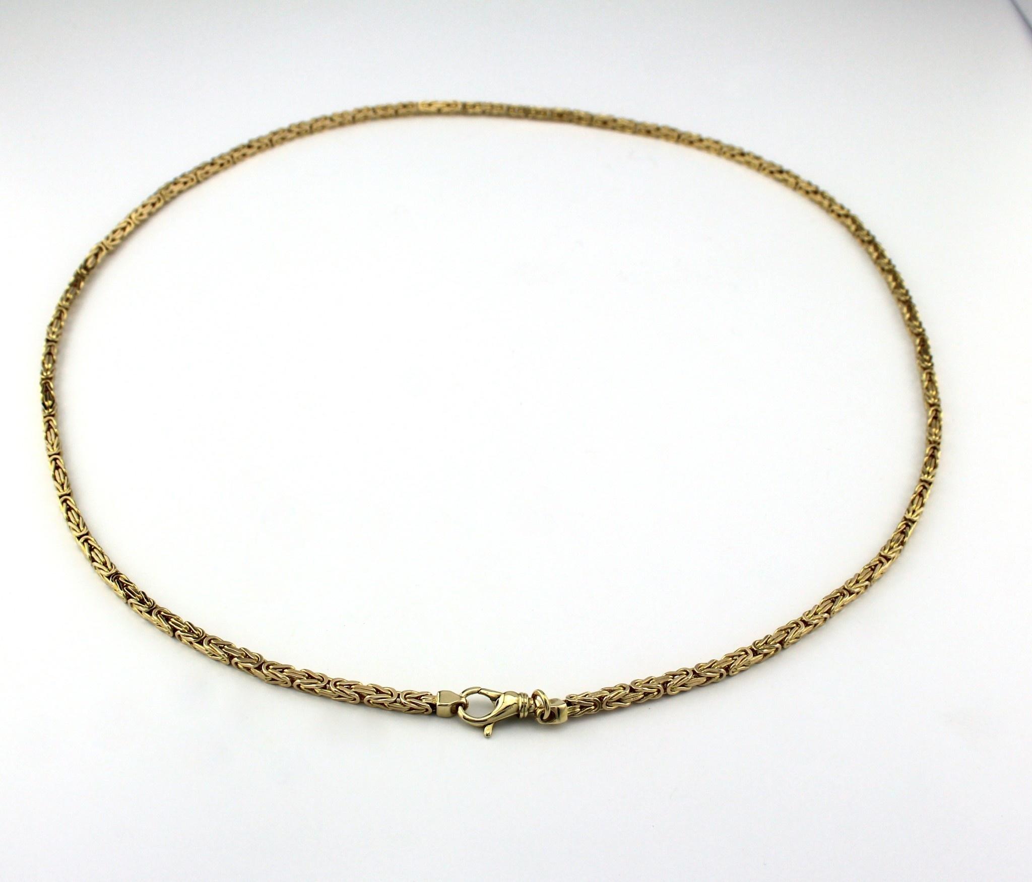 Tomylo 14 kt geelgouden ketting met koningsschakel 60 cm