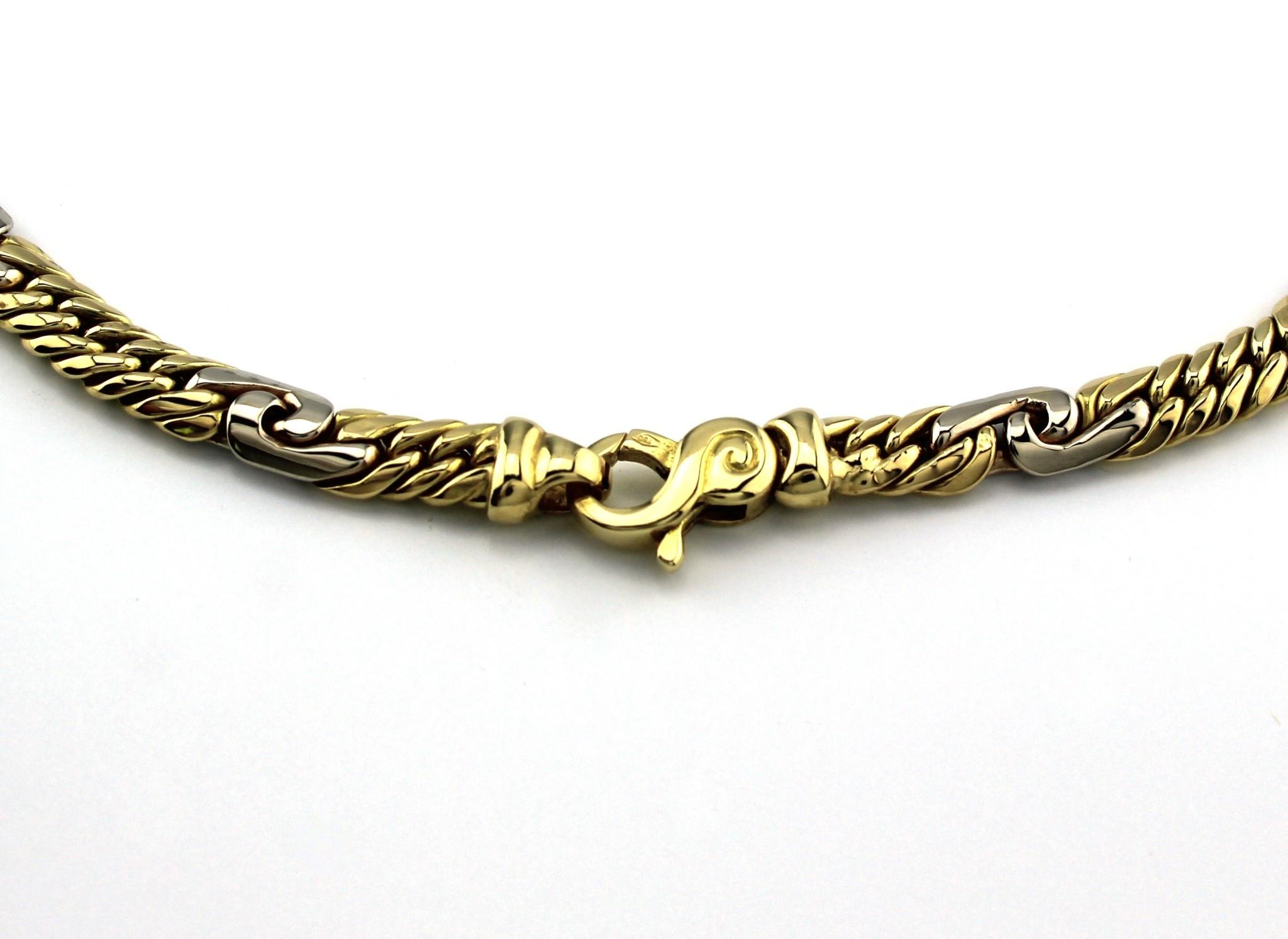 Tomylo 14 kt bicolor gouden ketting met palmier schakel
