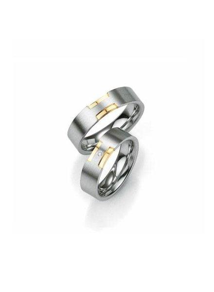 Breuning Breuning, zilveren relatiering, damesring met 0,015 ct. briljant 48/08007