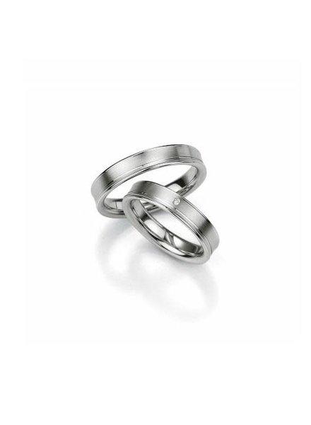 Breuning Breuning, zilveren relatiering, damesring met 0,01 ct. briljant 48/08019