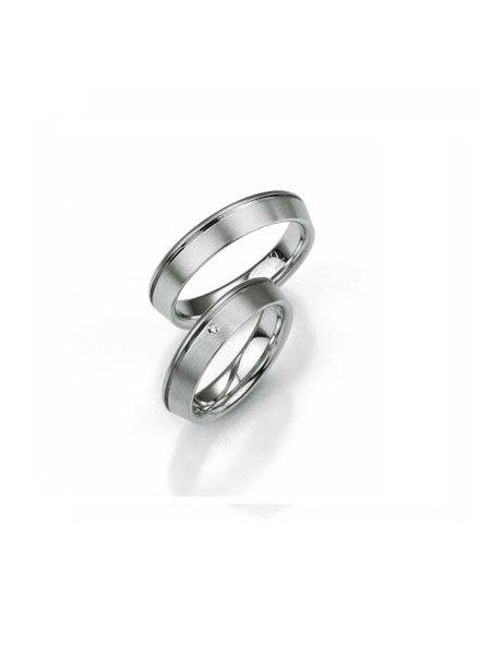Breuning Breuning, zilveren relatiering, damesringmet 0,01 ct. briljant 48/08005.