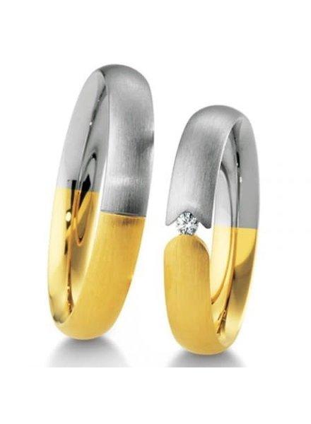 Breuning Wit- met geelgouden trouwringen 48/04155 48/04156