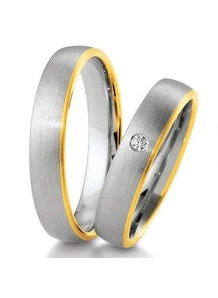 Breuning Wit- met geelgouden trouwringen 48/04151 48/04152