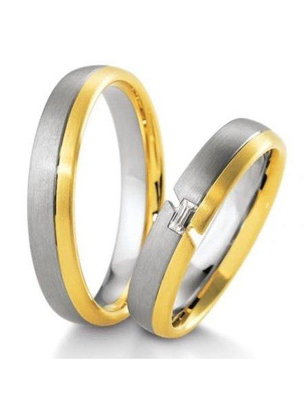 Breuning Wit- met geelgouden trouwringen 48/04141 48/04142