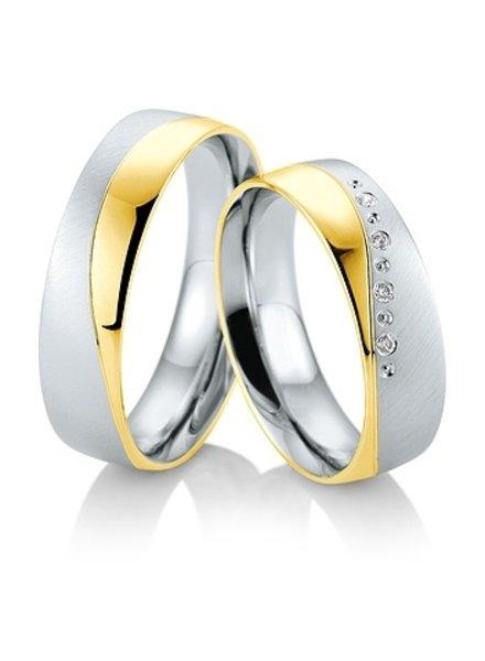 Breuning Wit- met geelgouden trouwringen 48/05827 - 48/05828