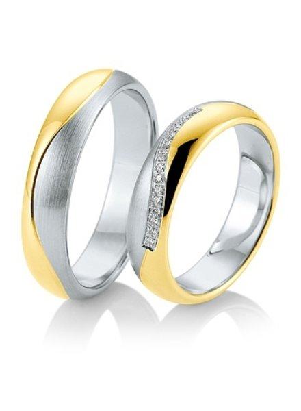 Breuning Wit- met geelgouden trouwringen 48/05823 - 48/05824